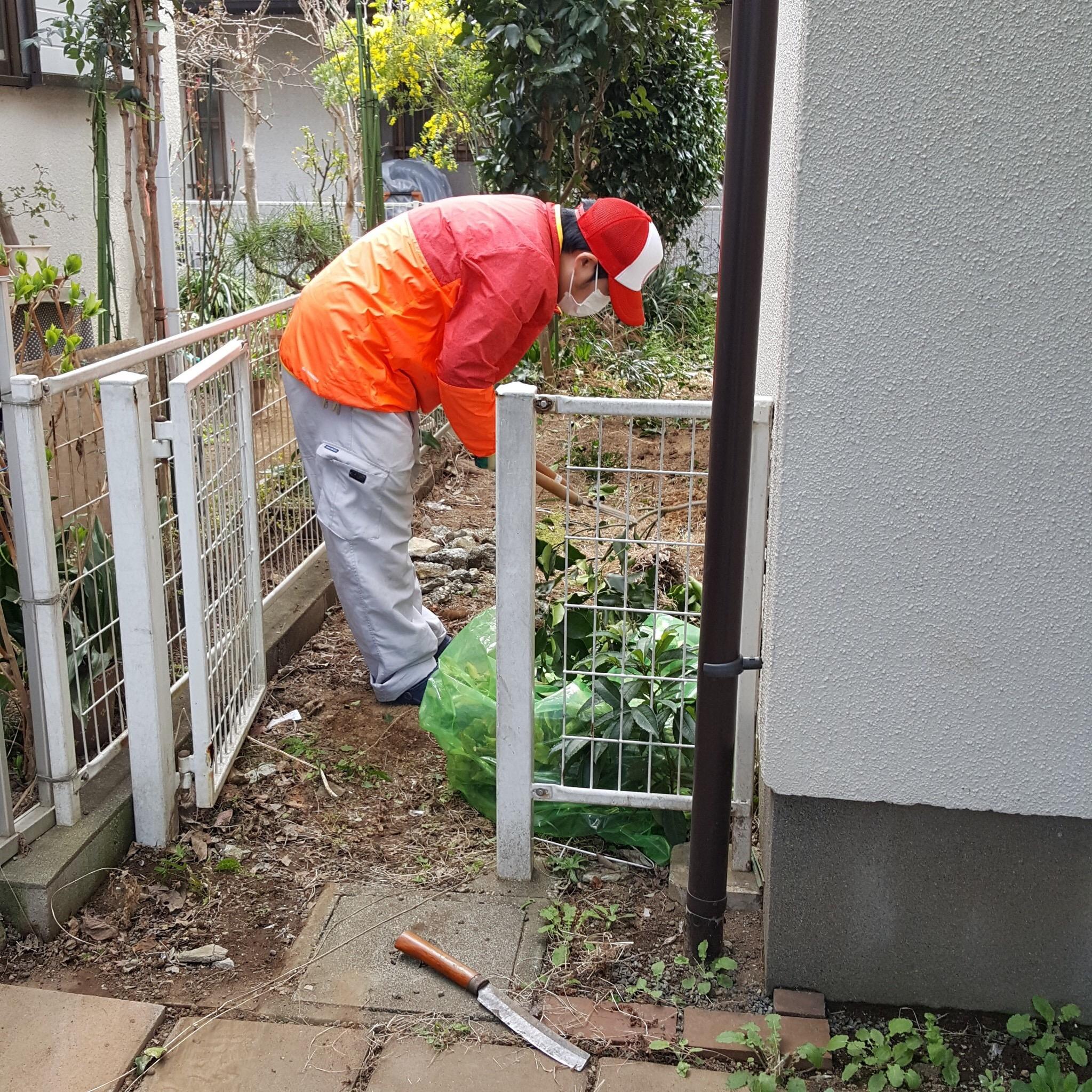 東京都小平市 物置解体・撤去とお庭の手入れ・掃除