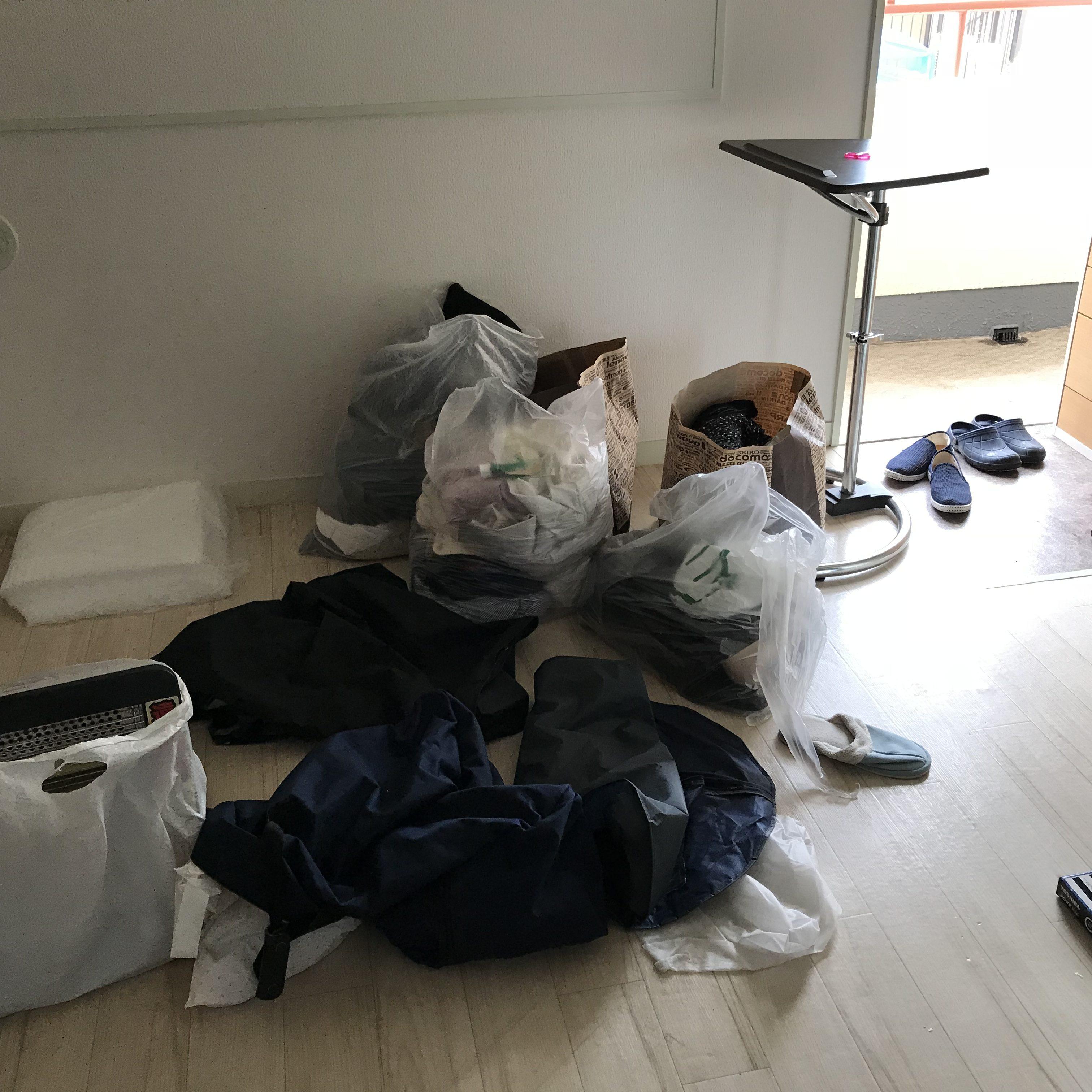 東京都板橋区 1R(ワンルーム)不用品回収と運搬(引越し)
