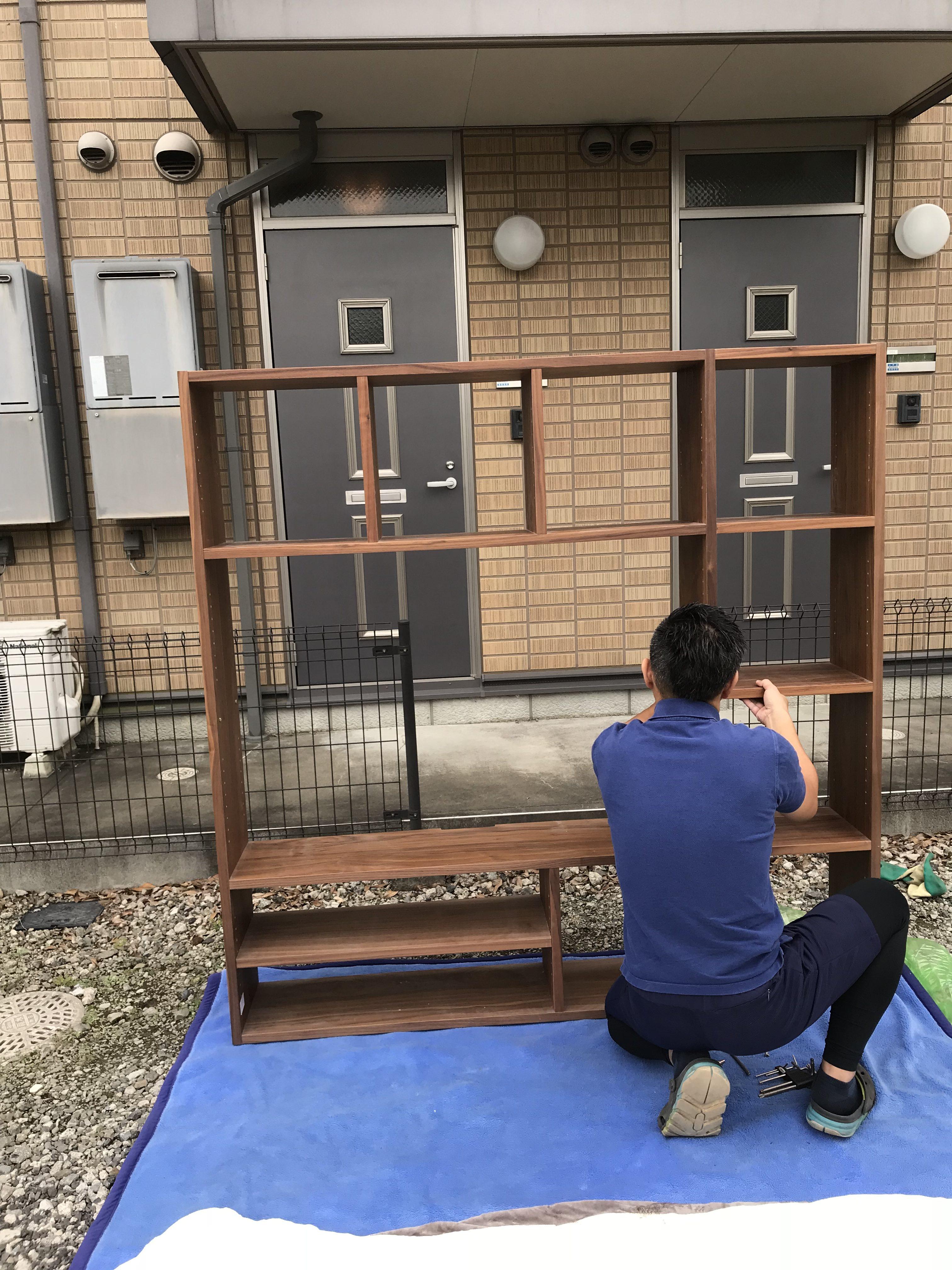東京都東久留米市  家具解体→部屋に搬入→家具組立