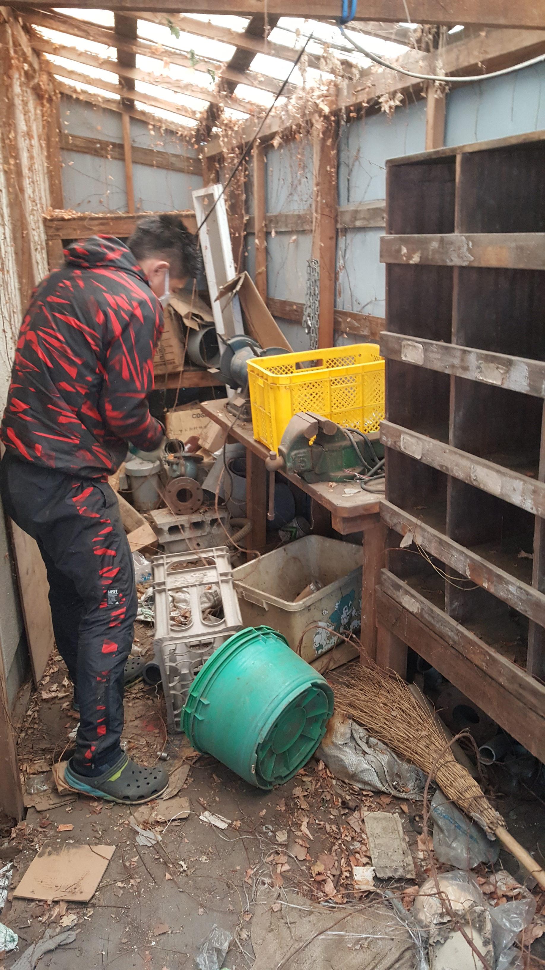東京都東村山市 企業様の倉庫内の不用品回収