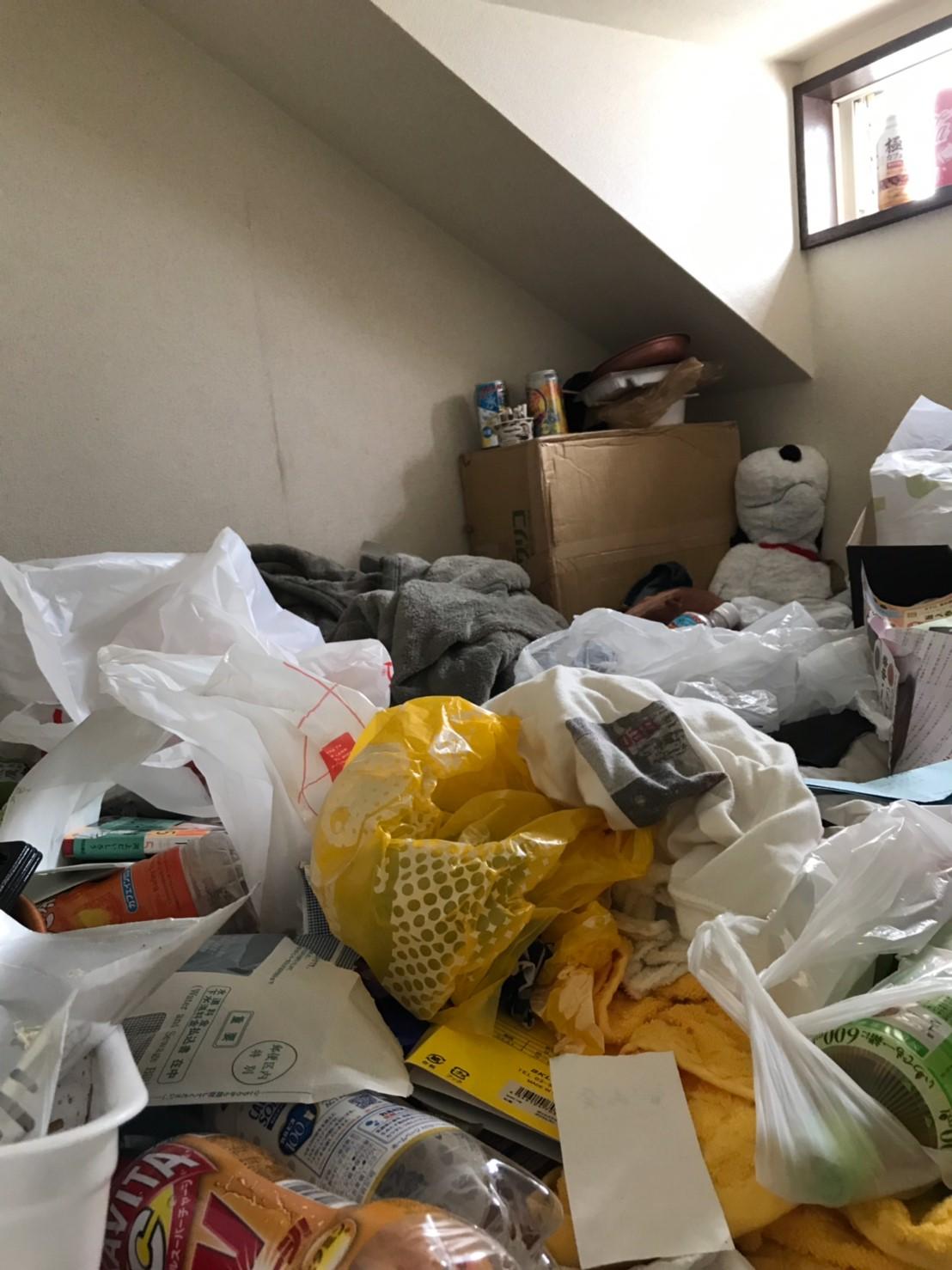 東京都稲城市 大量ゴミの片付けと不用品回収
