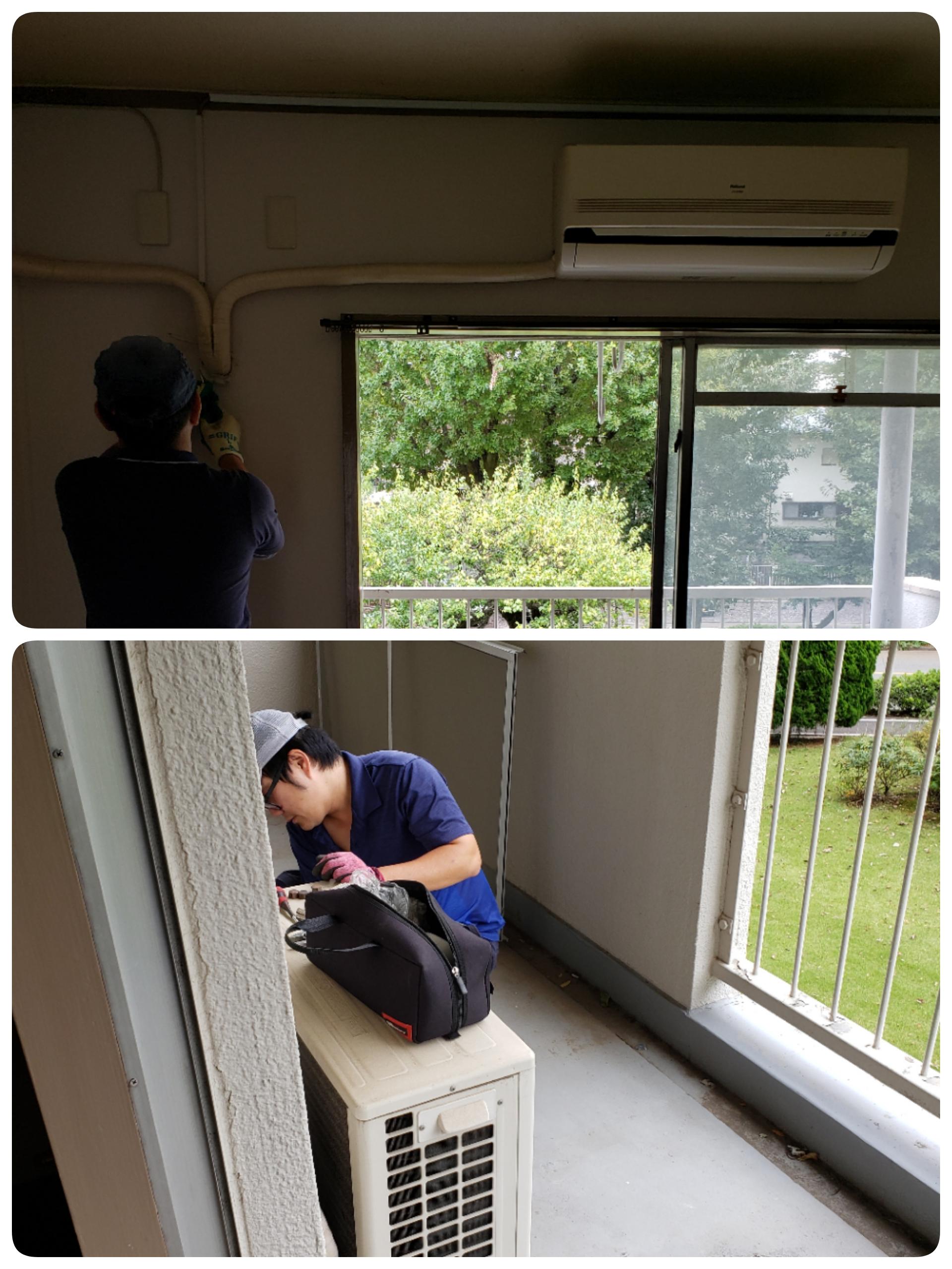 東京都八王子市 エアコン取り外しと不用品回収