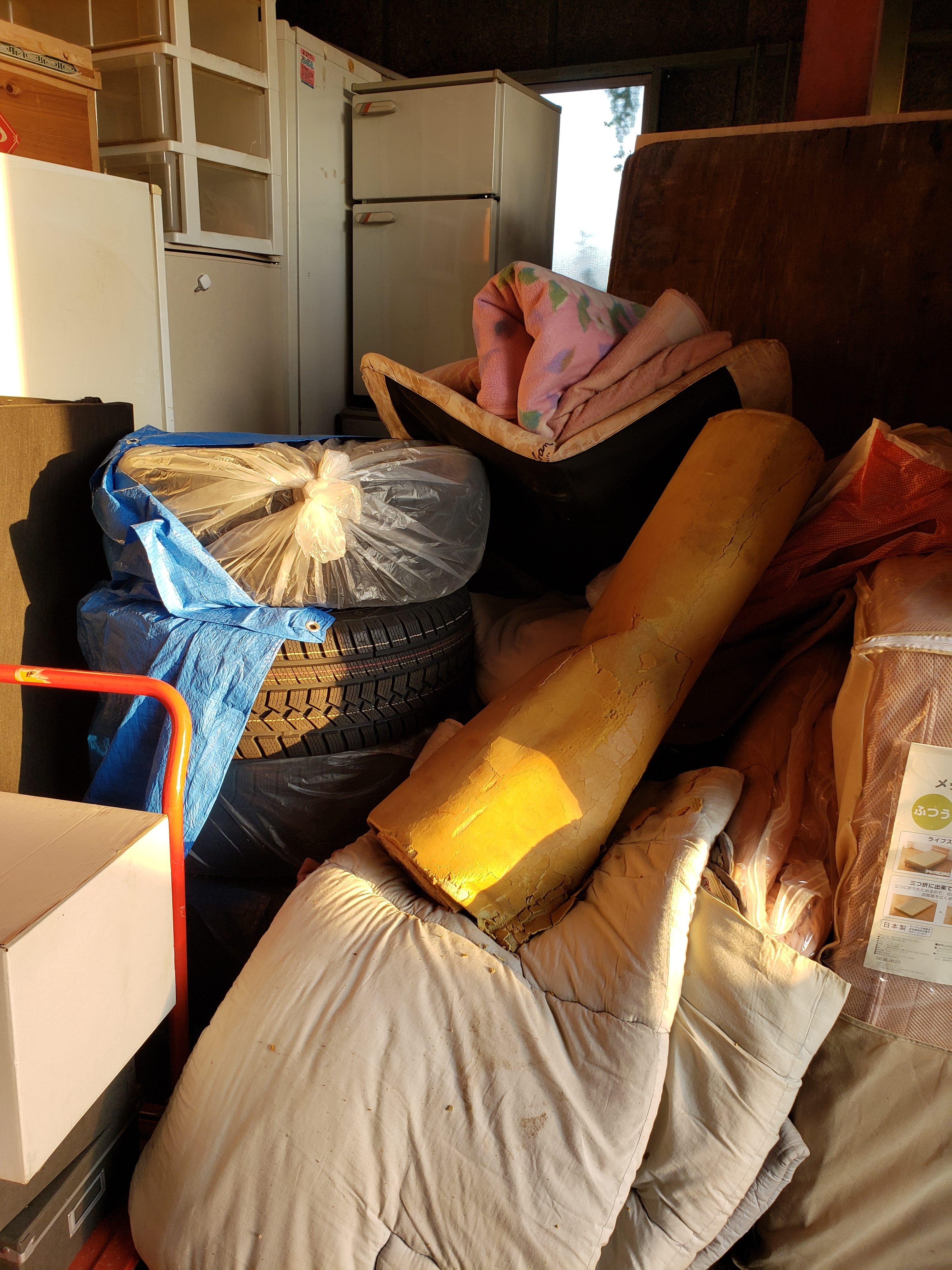 東京都小平市 トランクルームの不用品回収