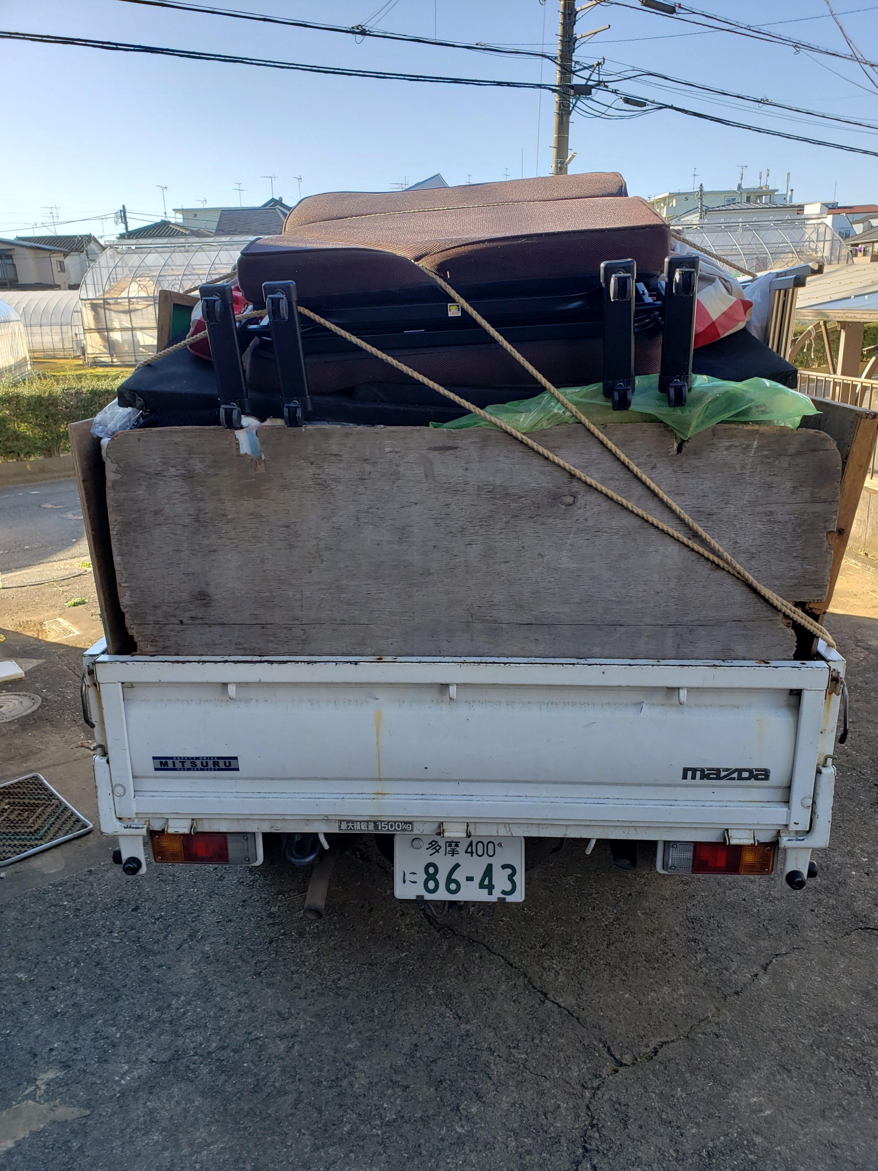 東京都八王子市 2DK片付け・不用品回収