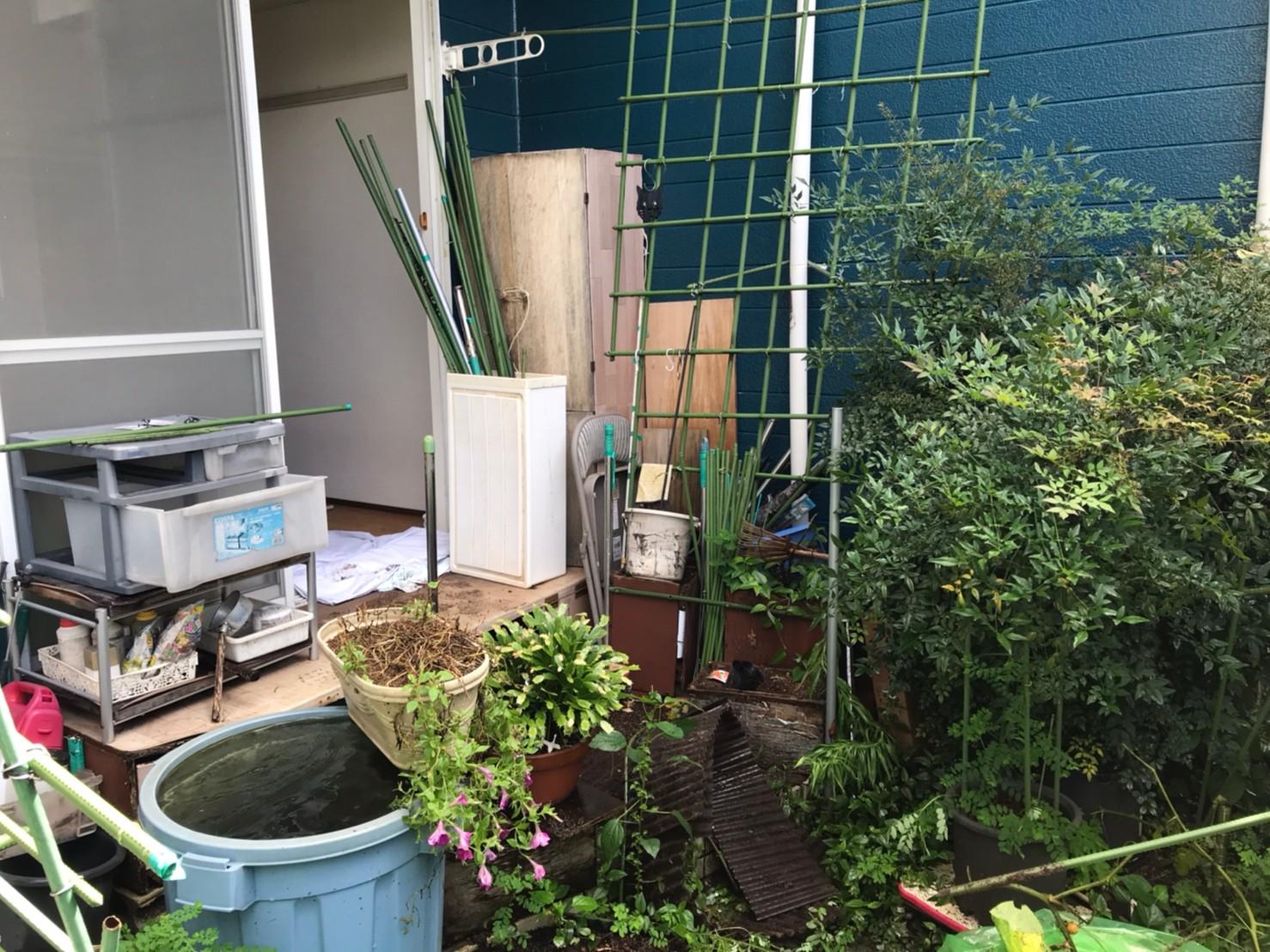 東京都日野市 庭の片付けと不用品回収