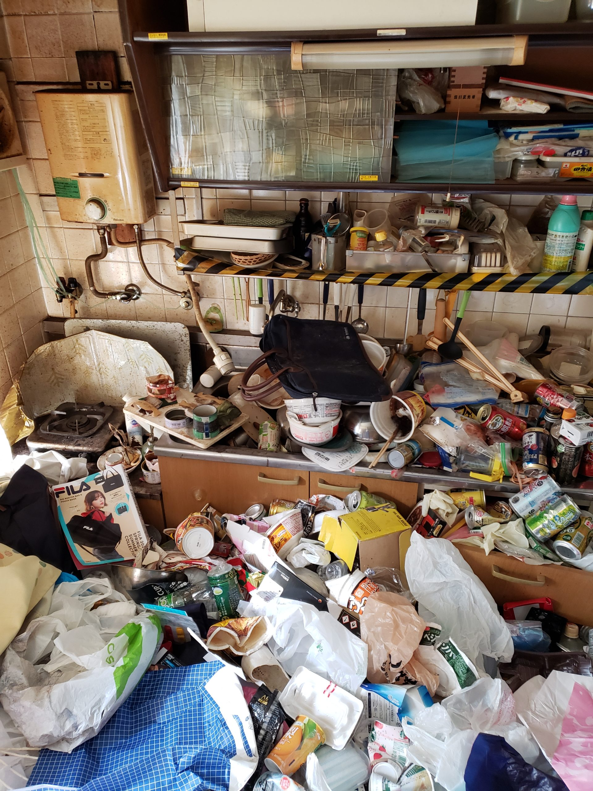 東京都練馬区 1DKゴミ屋敷片付けと不用品回収