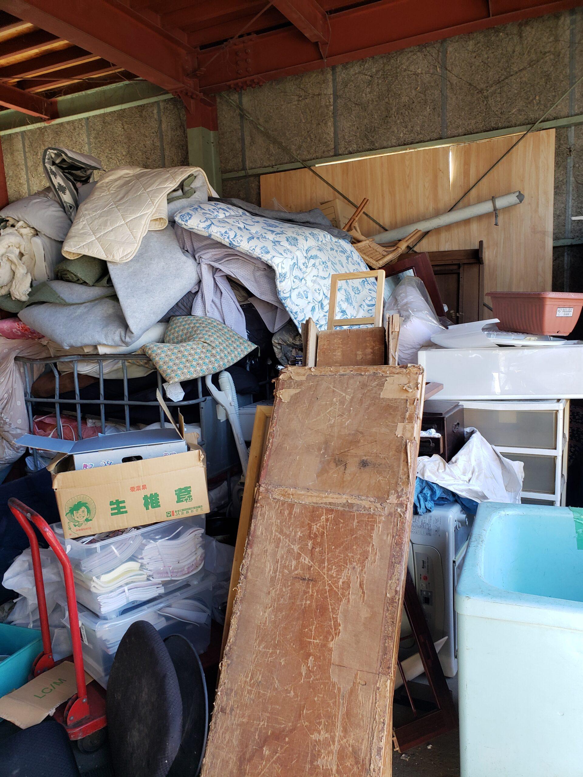 東京都昭島市 レンタルボックスの不用品回収