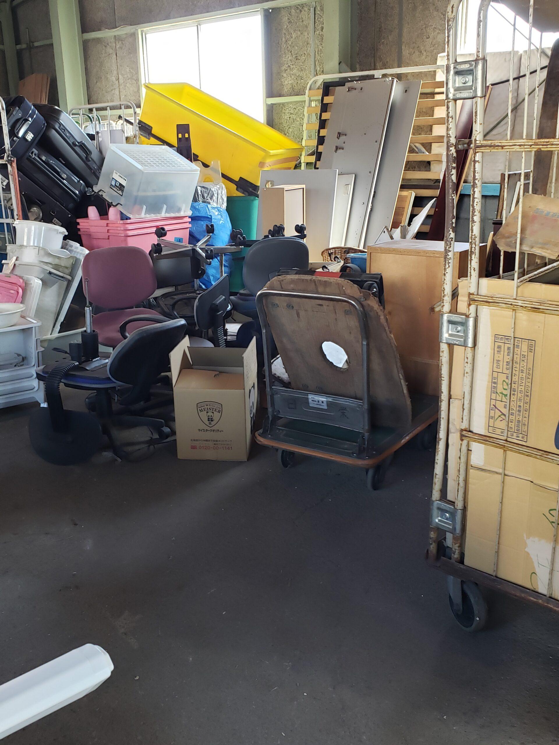 東京都清瀬市 倉庫内の不用品回収