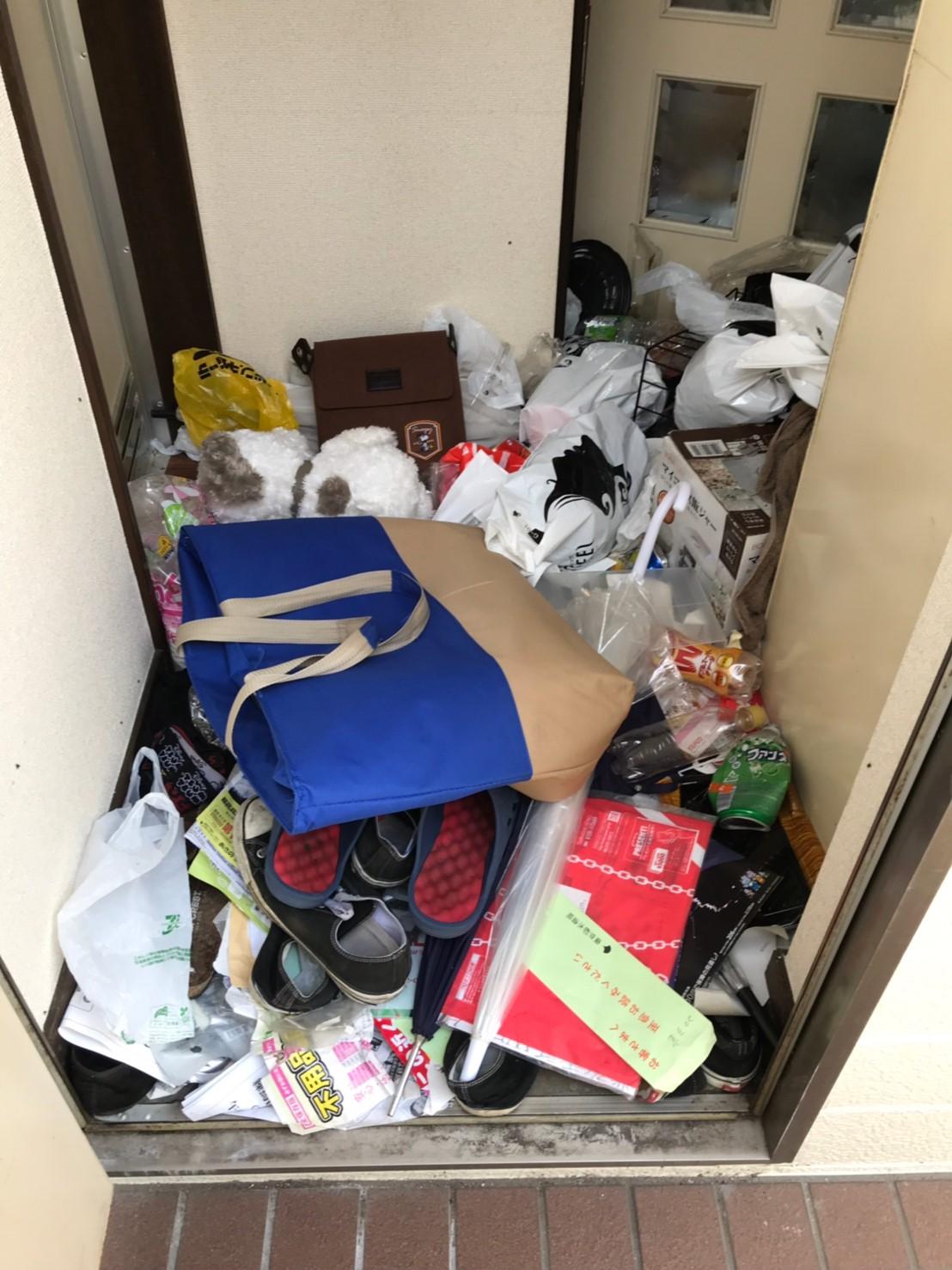 東京都狛江市 ゴミの片付けと回収