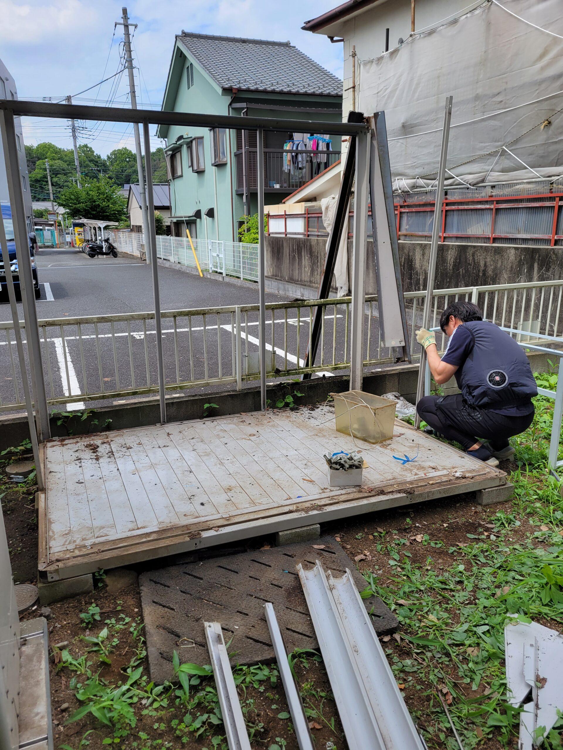 東京都小平市 物置の回収